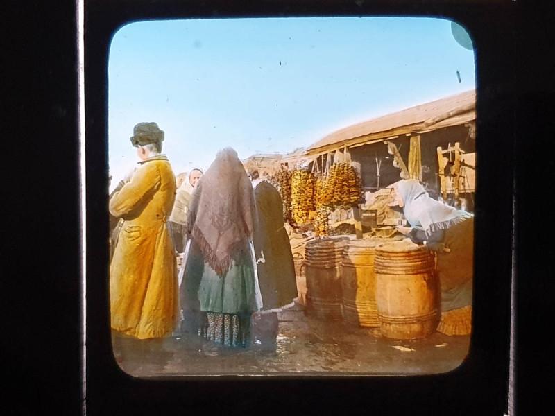 Карл Элоф  Берггрен. Грибной рынок. Москва. 1900-е