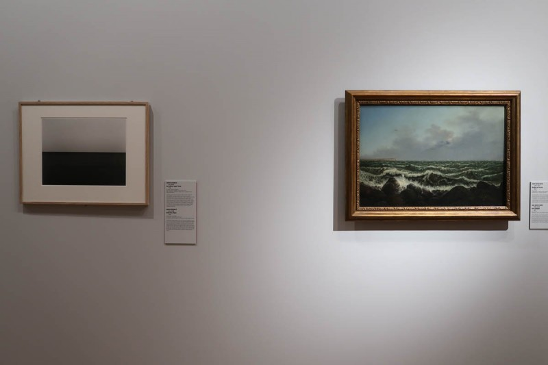 Слева: Хироси Сугимото. Балтийское море. Рюген. 1996 Справа: Карл Густав Карус. Прибой на Рюгене 1819