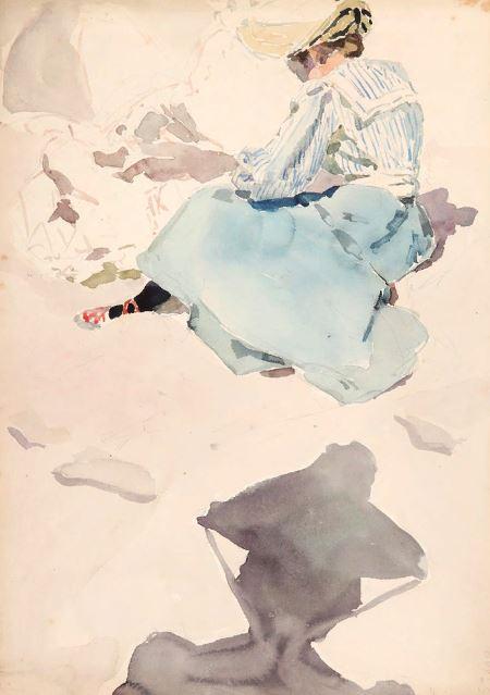 Мария Якунчикова. За этюдом. 1889–1890-е. Музей-заповедник В.Д. Поленова