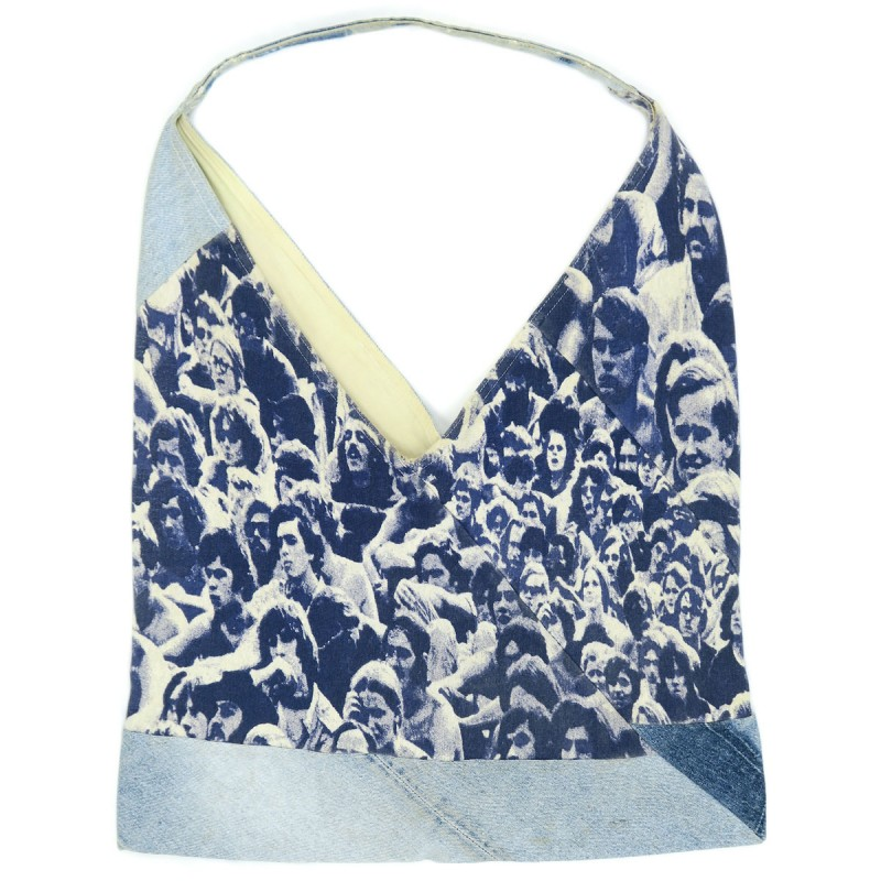 Kapital'Woodstock' Reconstucted Tote Bag