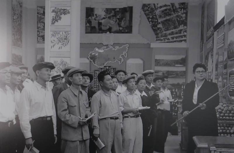 Экскурсия колхозников-полеводов. М. Розенбаум. 1957
