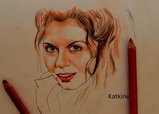 katkine портрет в процессе галина цветные карандашами евгений каткин
