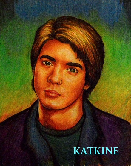 katkine  boxer boy  евгений каткин портрет цветными карандашами юный боксер