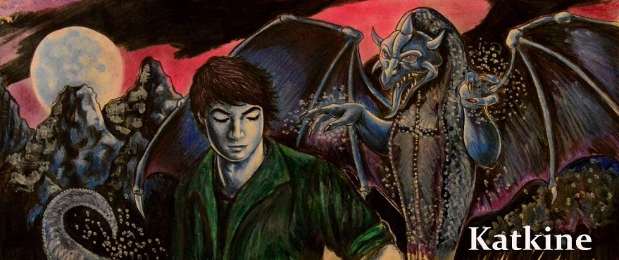 katkine double dragon moon евгений каткин дракон и юноша цветные карандаши Evgeny Katkin
