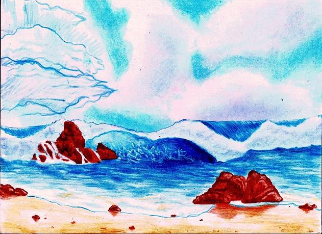волны под небом