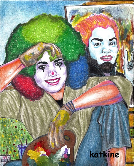 художник клоун