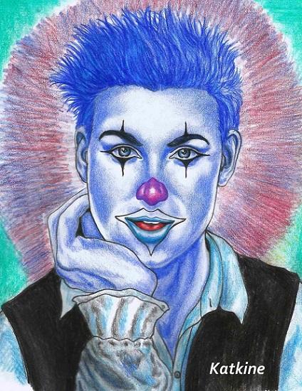 синий клоун