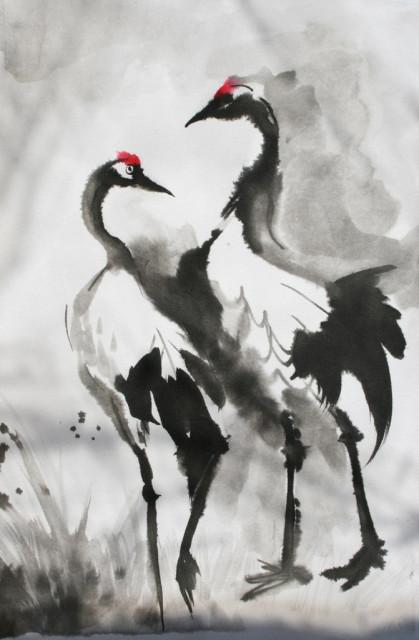 Оксана Завадская. Японская живопись. Катерина Чёрная