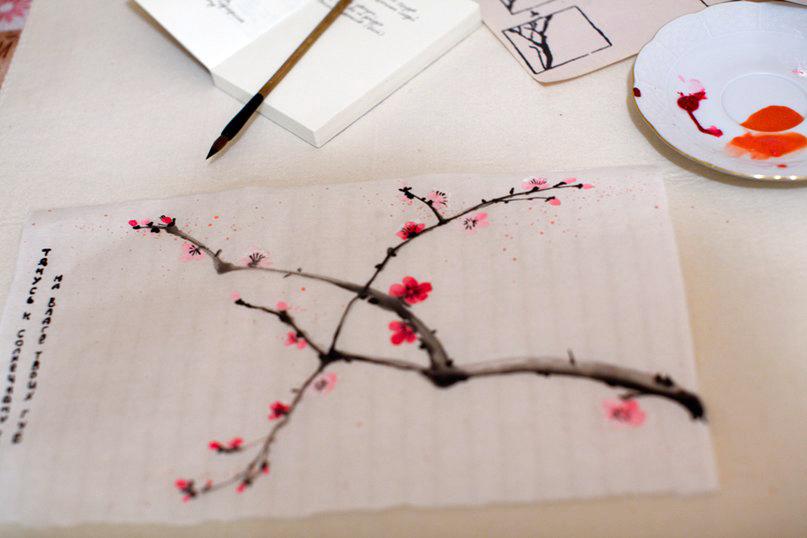 Лена Муравьева, Японская живопись