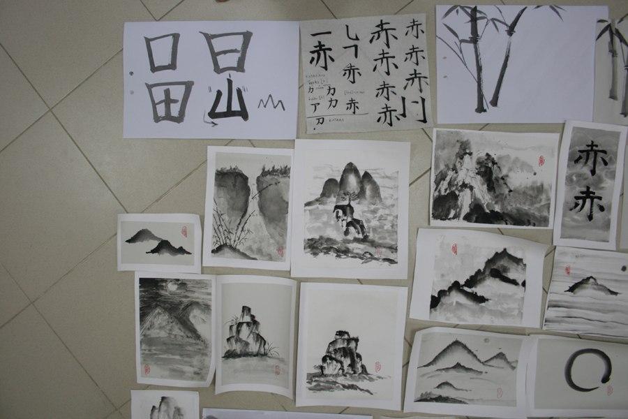 японская живопись в Ростове, 2012, сентябрь