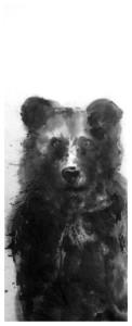 brown bear sumi-e