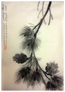 pine tree sumi e , Катерина Чёрная