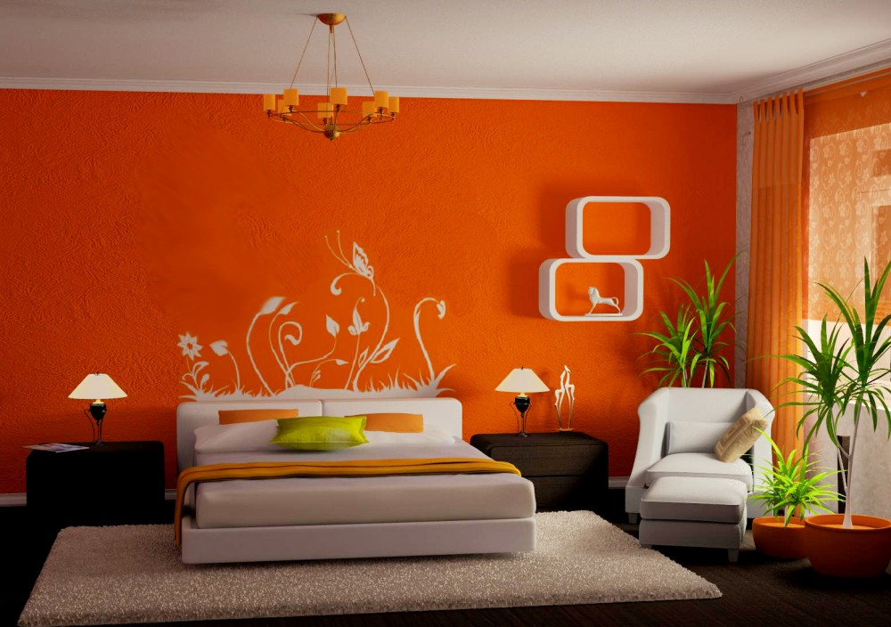Image result for  chambre orange