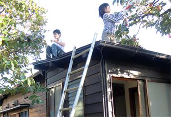 屋根上傑三