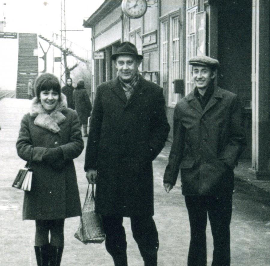 Дед, мама и отец