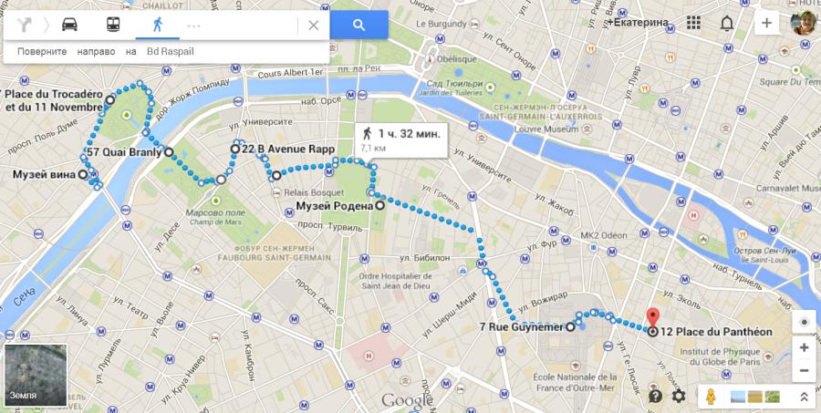 От Трокадеро до Пантеона маршрут 3