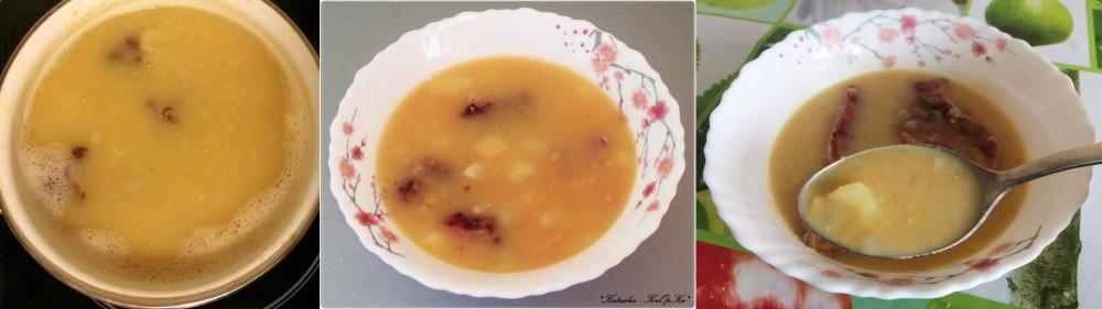 Гороховый суп с мукой
