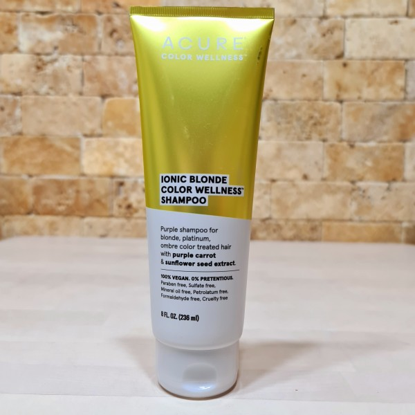 Acure, Оздоровительный шампунь Ionic Blonde Color Wellness - для блондинок