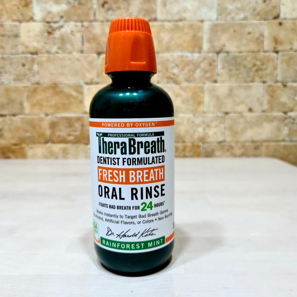 TheraBreath, Fresh Breath, ополаскиватель для полости рта, мята тропического леса