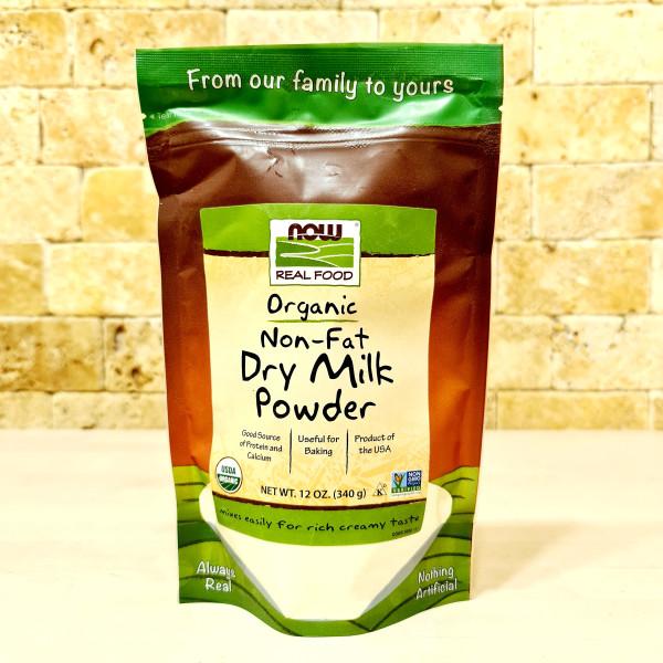 Now Foods, Real Food, сертифицированное органическое обезжиренное сухое молоко