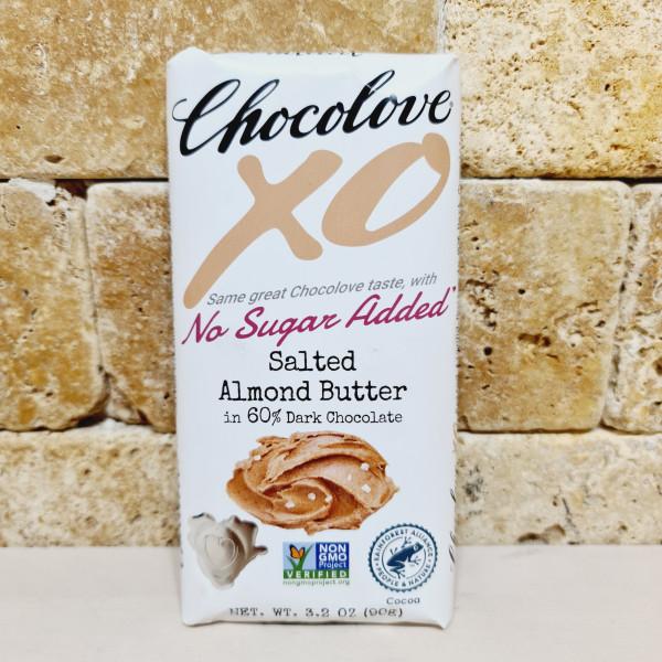 Chocolove, XO, соленое миндальное масло в 60% темном шоколаде