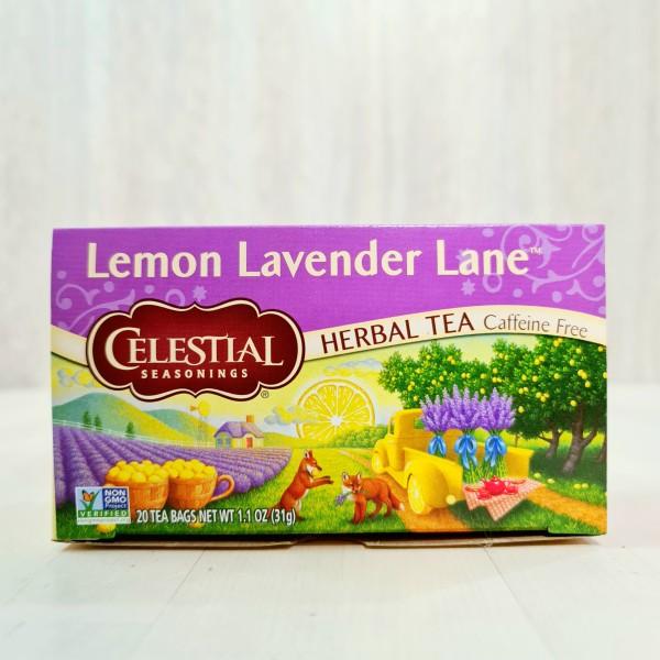 Celestial Seasonings, Травяной чай, лимонно-лавандовый путь, без кофеина