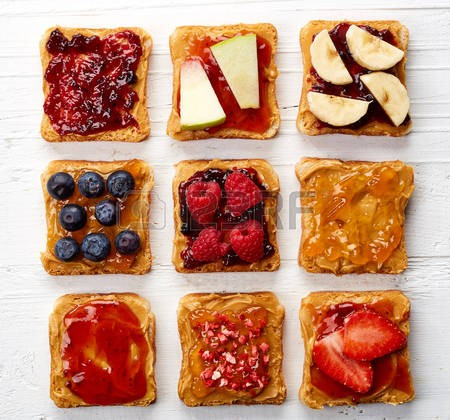 57549898-various-peanut-butter-sandwiches-from-top-view