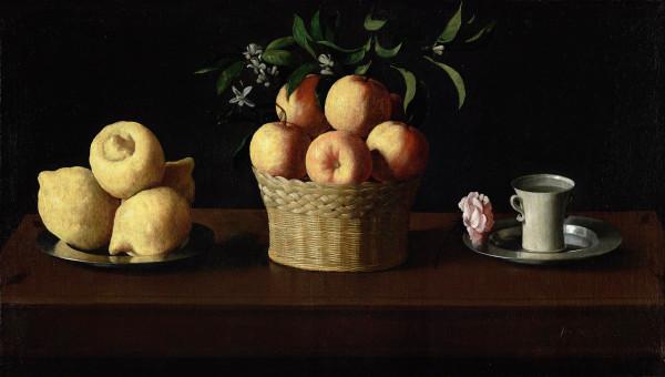 Лимоны, апельсины и розы Ф.Сурбаран