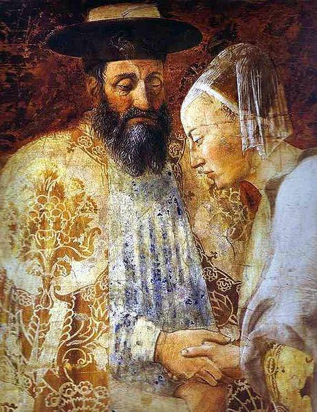 Царь Соломон встречающий царицу Савскую, Ареццо