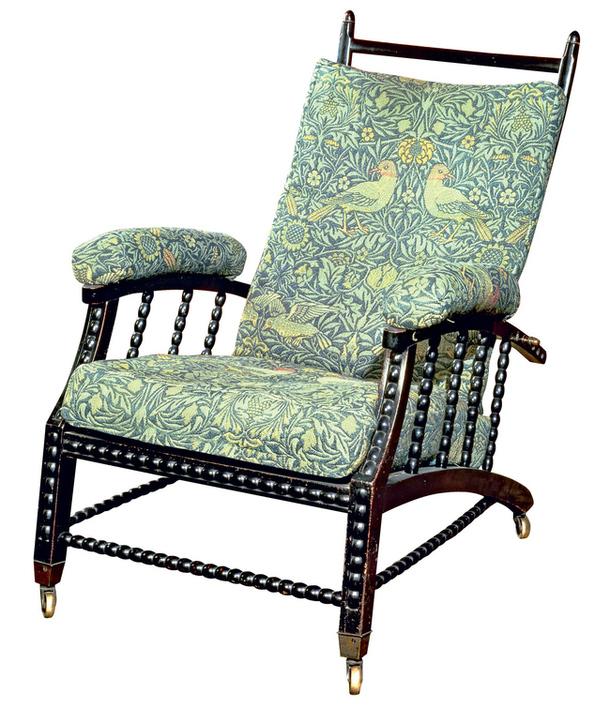 кресло, обитое шерстяной тканью Bird. около 1870 г.