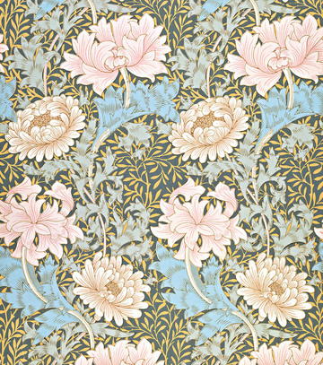 Образец обоев по эскизам Уильяма Морриса, Chrysanthemum (1886 год)