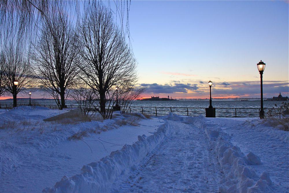 Зимние закаты на Гудзоне