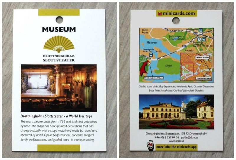 музей театр замка Дроттнингхольм Стокгольм Швеция