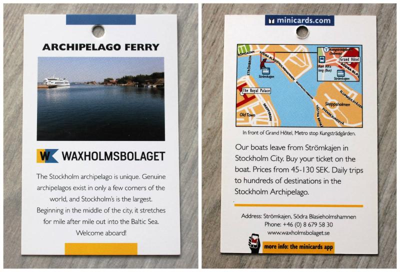 Archipelago ferry Stockholm, поездки по стокгольмскому архипелагу