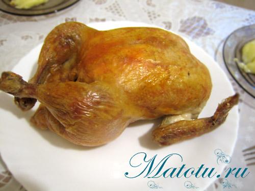 Рецепт куры в духовке на соли