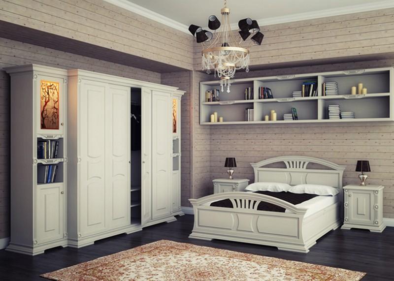 Мебель для спальни из дерева по эскизам клиента.