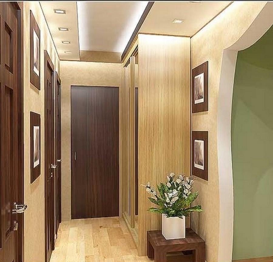 Дизайн коридора прямоугольного
