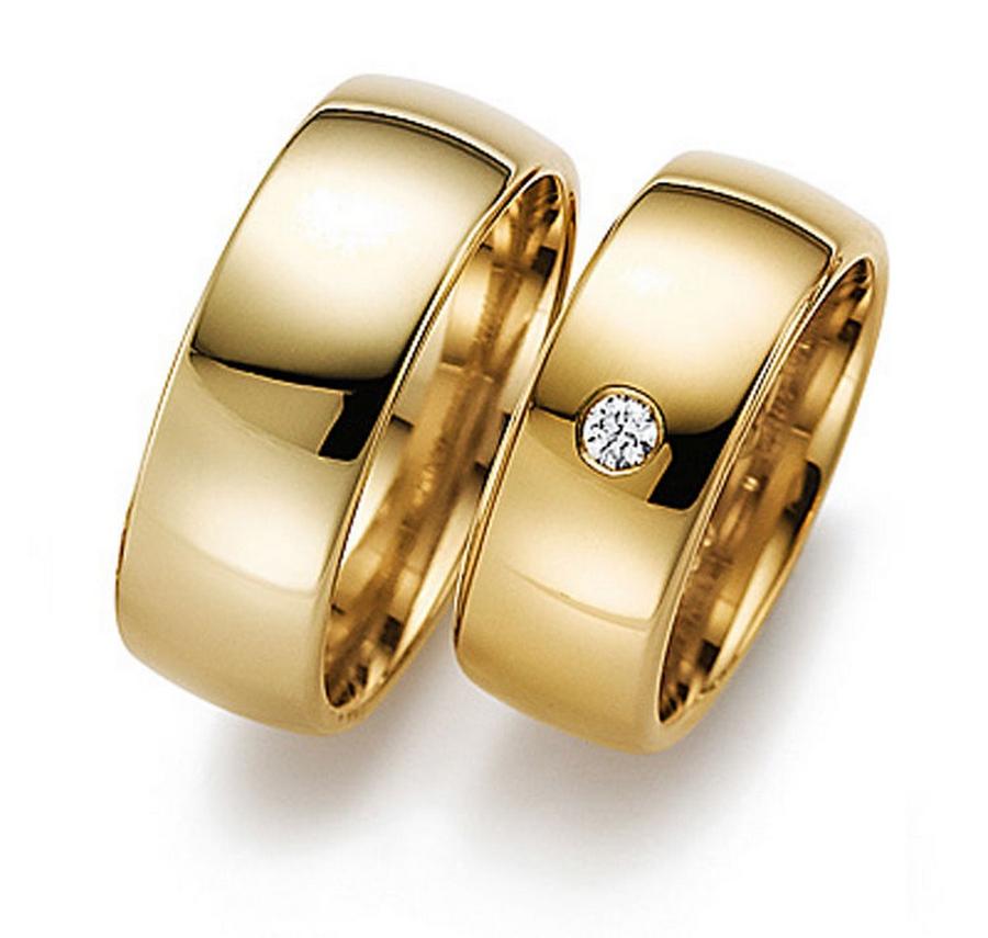 кольца обручальные из золота фото