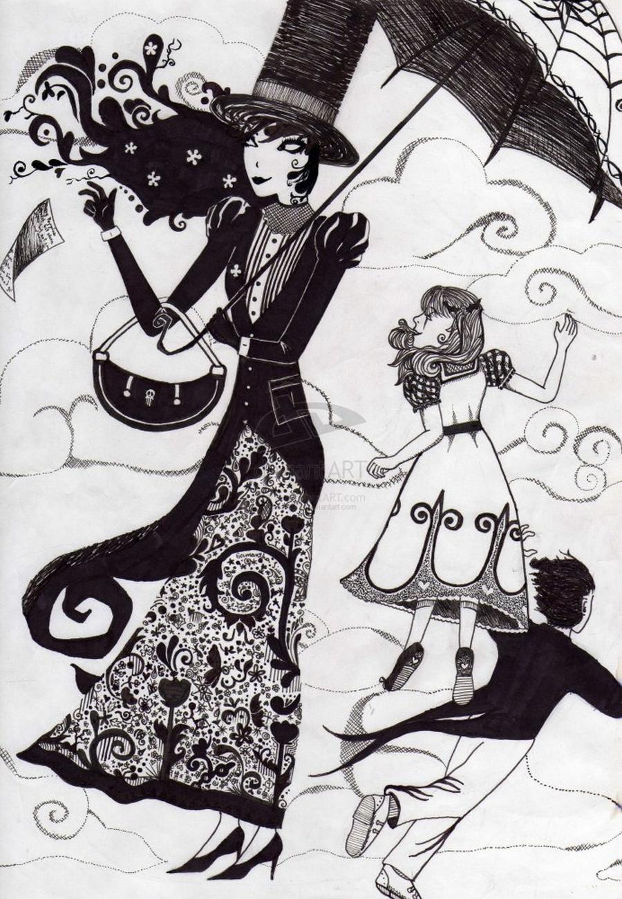 Мэри Поппинс - образ идеальной няни 10