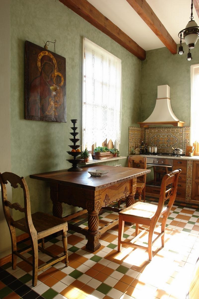 Русский стиль кантри в интерьере дома в Ленинградской области 1