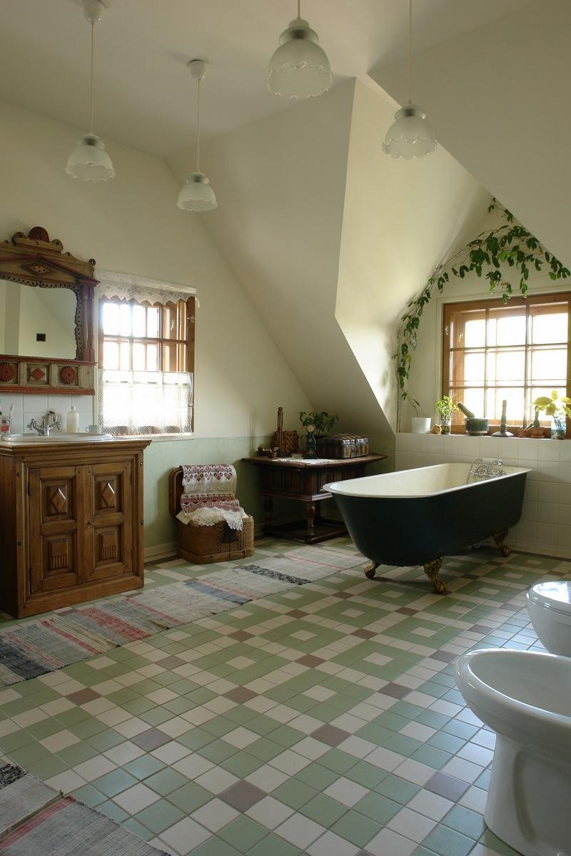 Русский стиль кантри в интерьере дома в Ленинградской области 5