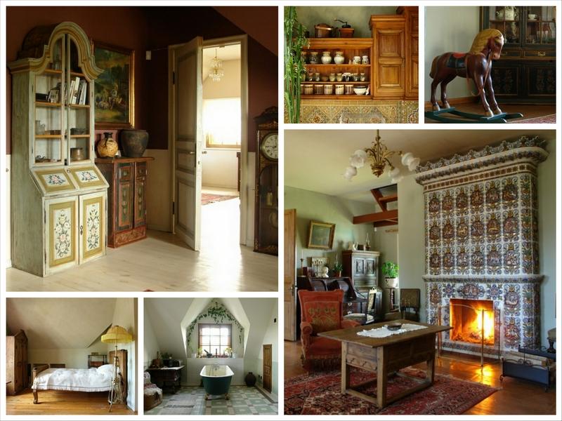 Русский стиль кантри в интерьере дома в Ленинградской области