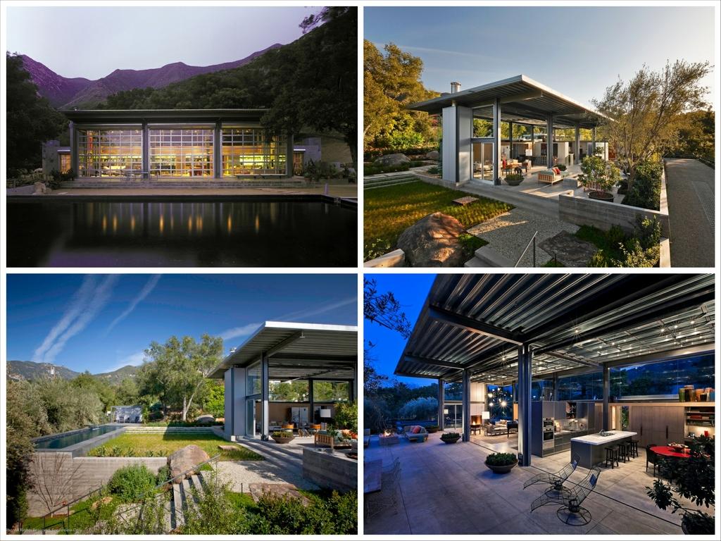 Стеклянный дом Montecinto Residence от Barton Myers Associates 1