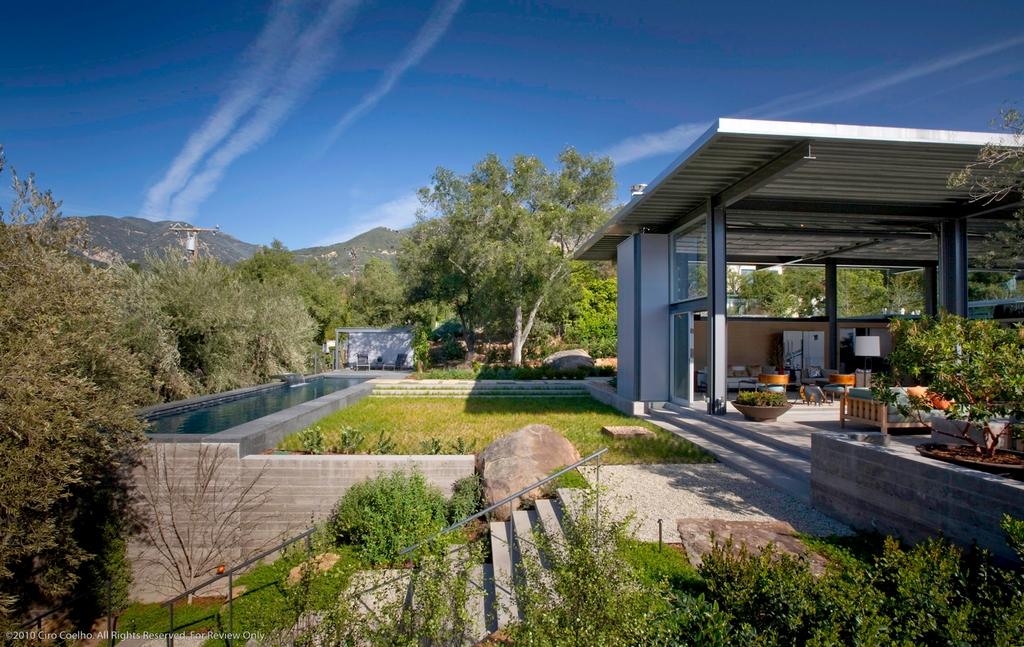 Стеклянный дом Montecinto Residence от Barton Myers Associates 6