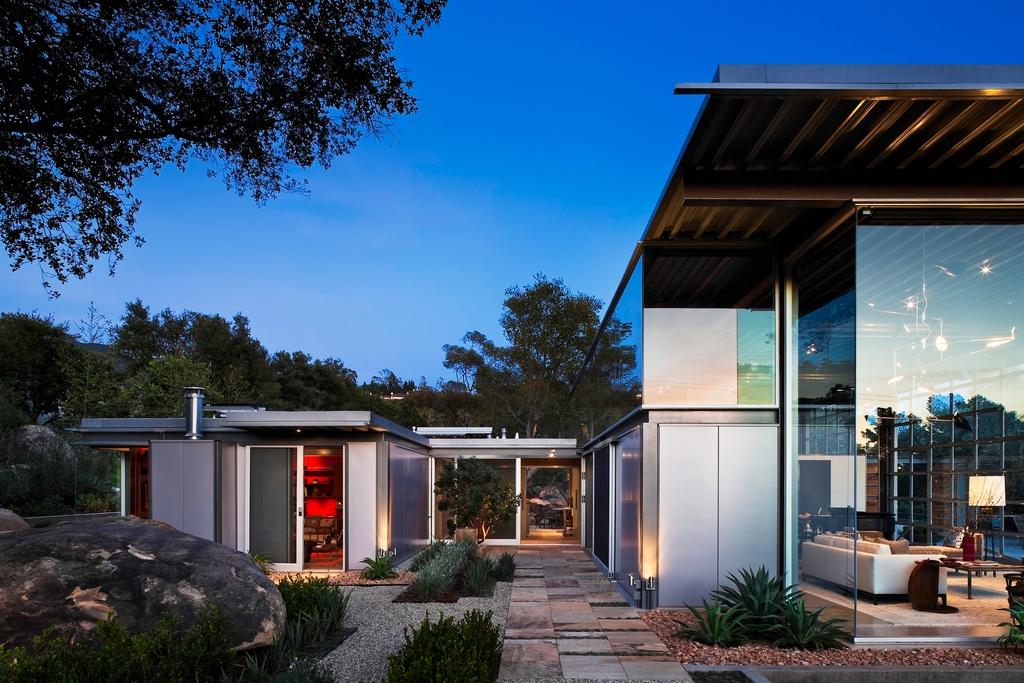 Стеклянный дом Montecinto Residence от Barton Myers Associates 7