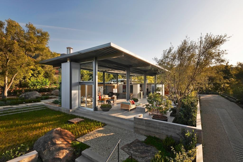 Стеклянный дом Montecinto Residence от Barton Myers Associates 8