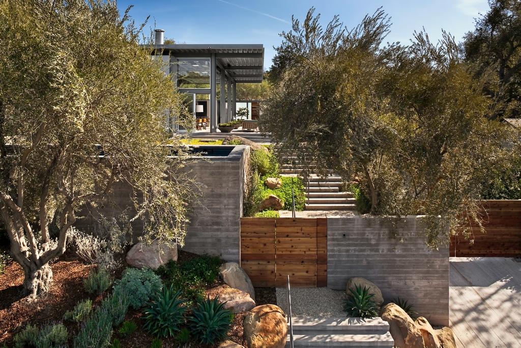 Стеклянный дом Montecinto Residence от Barton Myers Associates 9