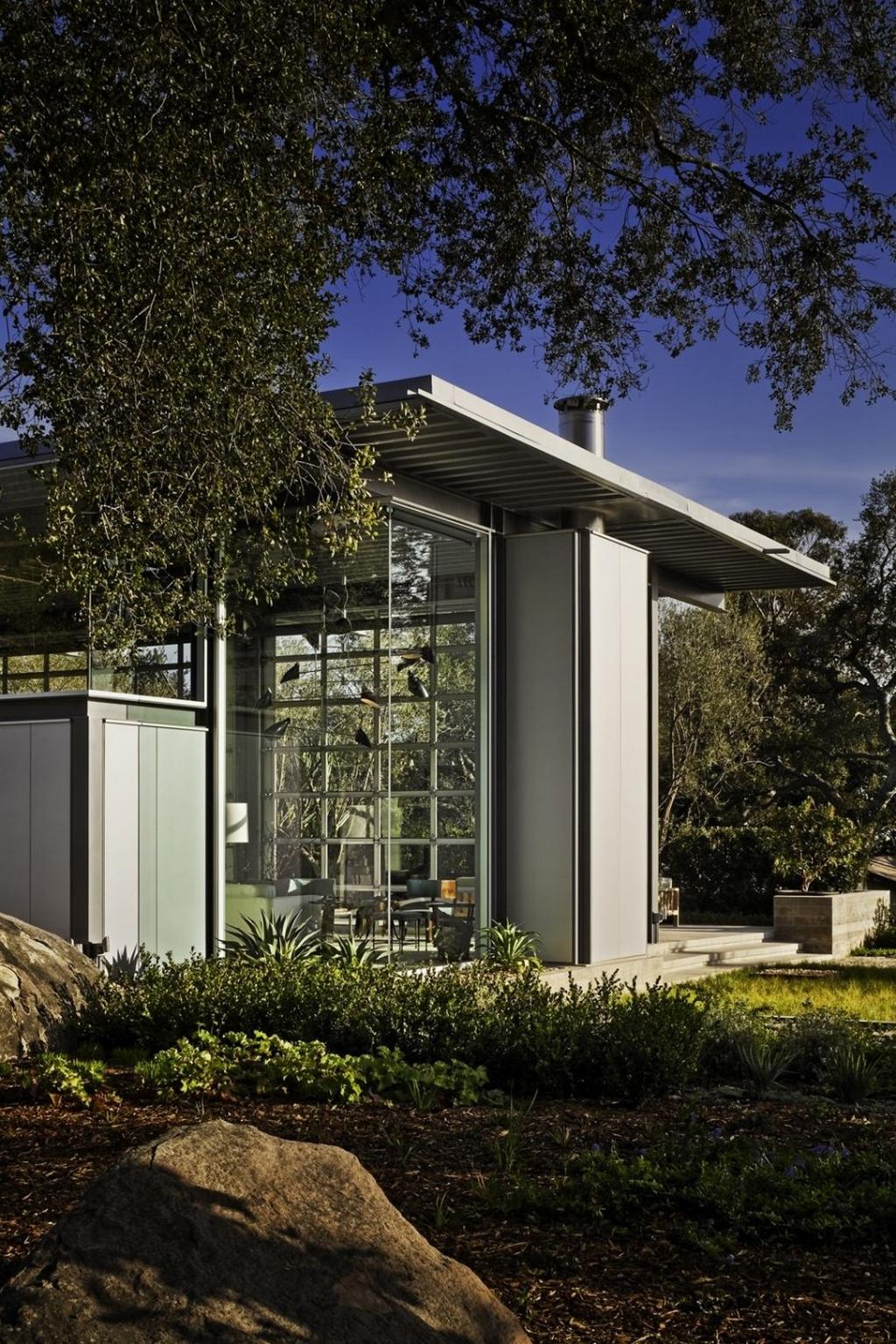Стеклянный дом Montecinto Residence от Barton Myers Associates 10