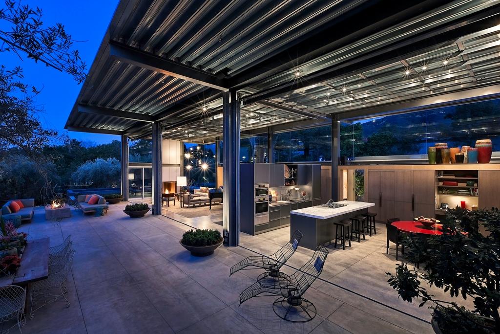 Стеклянный дом Montecinto Residence от Barton Myers Associates 12