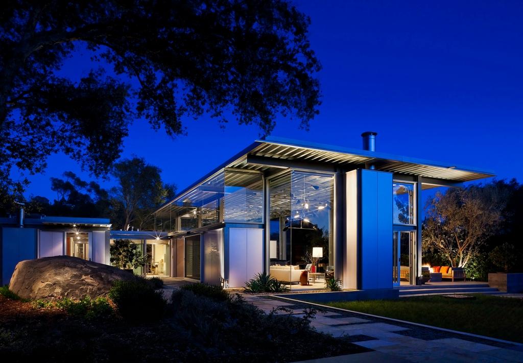 Стеклянный дом Montecinto Residence от Barton Myers Associates 13